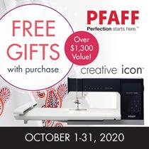 PFAFF October 2020 Creative Icon Promotion